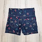 Шорты детские для девочки SmileTime Jeans Bow, джинс, фото 2