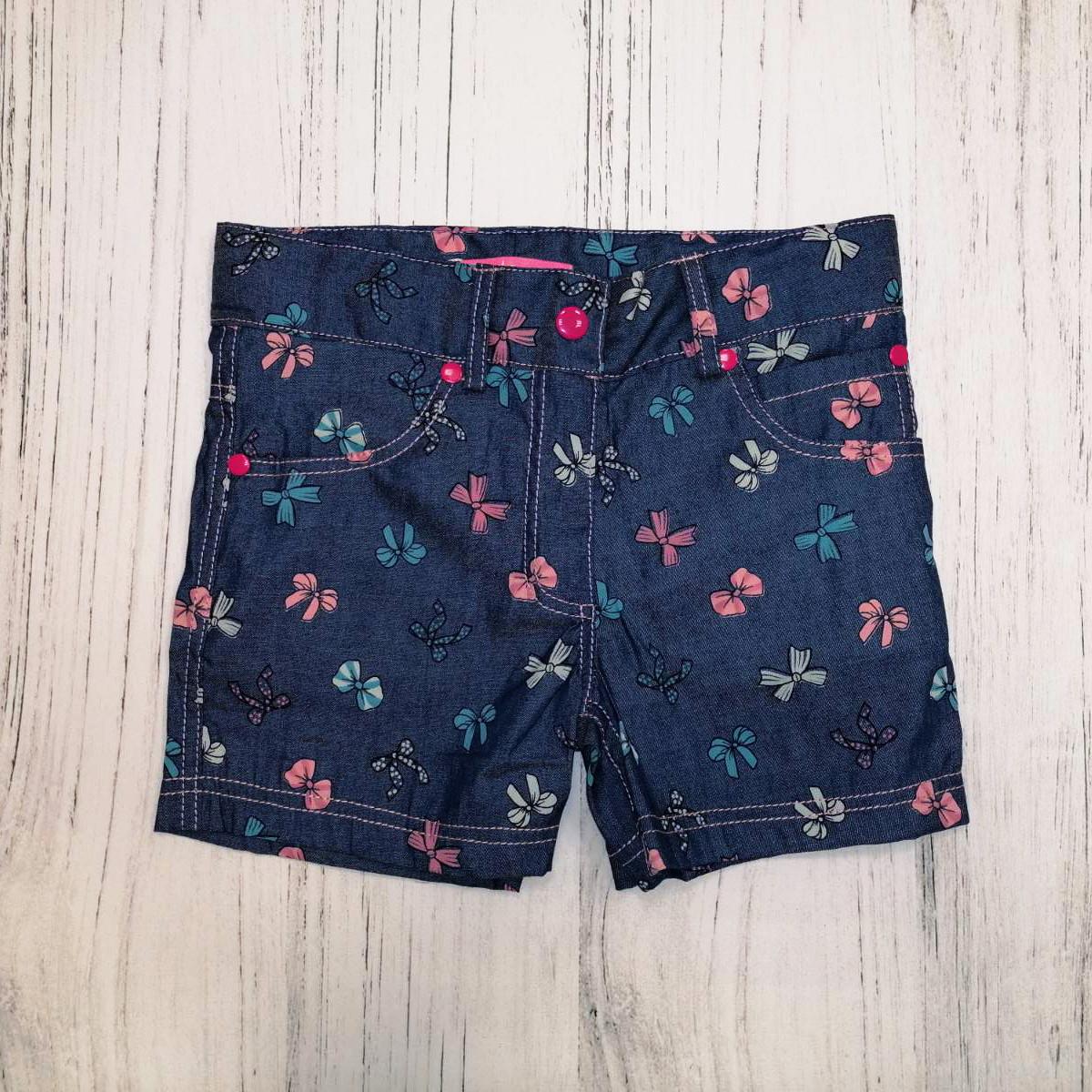 Шорты детские для девочки SmileTime Jeans Bow, джинс