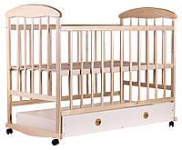 Детская кроватка Наталка с ящиком на колесах и с качалкой Пром