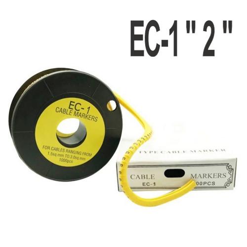 """Кабельна маркування (в котушках) EC-1 """"2"""" (1.5-4мм2) 1000шт"""