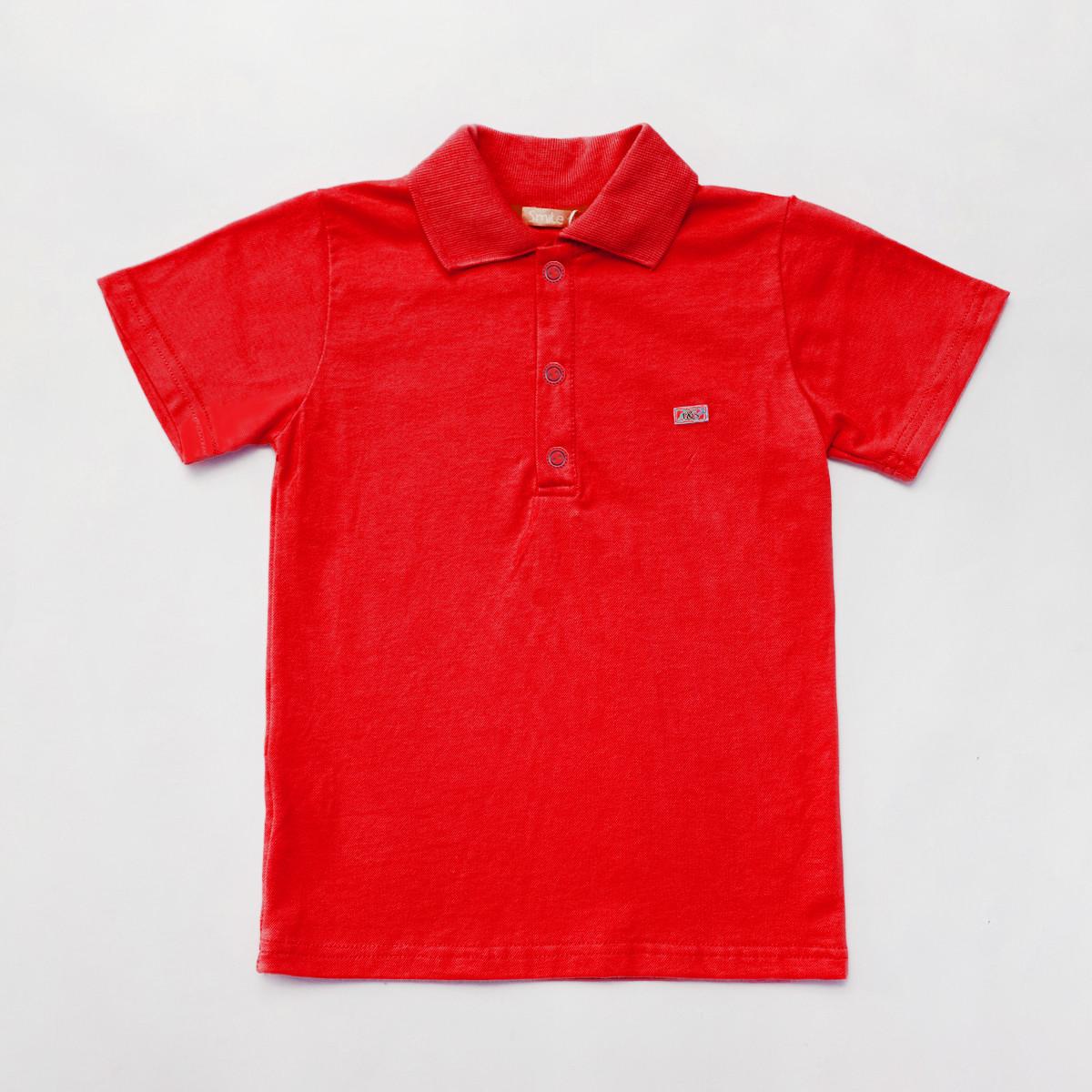 Яскрава дитяча теніска поло SmileTme дитяча для хлопчика Classic, червоний