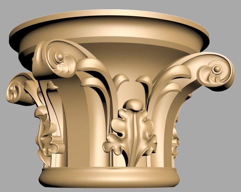 Капитель резная 3Д для колонны