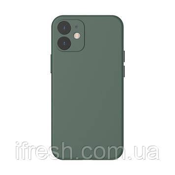 Чехол Baseus для iPhone 12 Liquid Silica Gel, Dark green (WIAPIPH61N-YT6A)