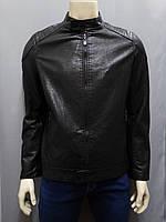 Трендовая мужская куртка из эко-кожи с воротником стойка