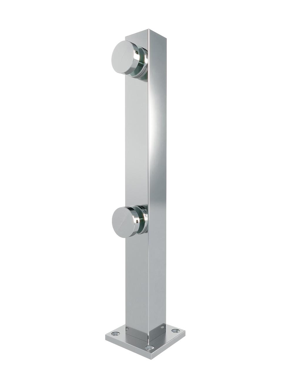 ODF-02-24-02-H400 Стійка для скла з нержавійки на точкових коннекторах для поручнів і огорож із скла