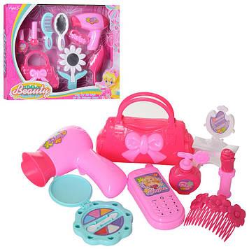 Набір аксесуарів для дівчаток:сумочка,фен,косметичка,в кор-ці,33,5х26,5х6№DX67102AB-1(24)