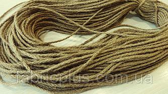 Шнур джутовый шпагат 5 мм плетеный без наполнителя