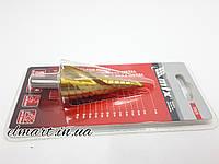 Сверло ступенчатое, 6-8-10-12-14-16-18-20-22-24-26-28-30мм, HSS, спиральный профиль, трехгранный хвостовик Mtx, фото 1