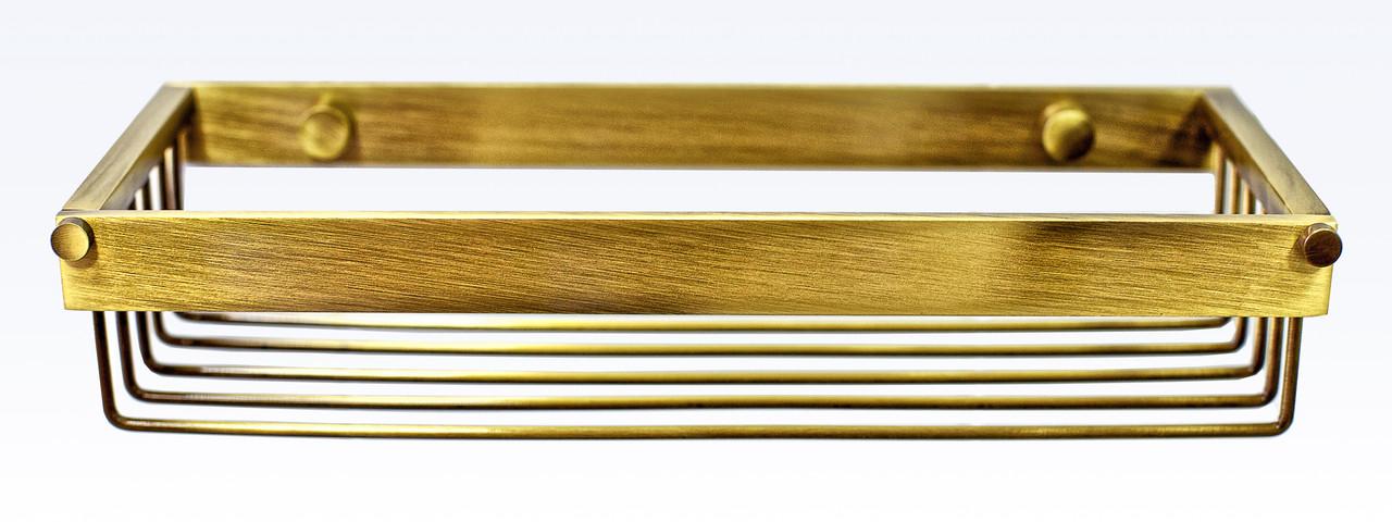 Полочка для ванной 25 см серия Viya бронза