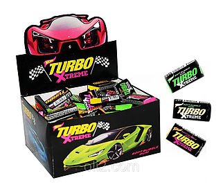 Жувальна гумка turbo xtreme блок 100 шт. / оригінальний подарунок друзям