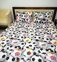 Комплект постельного белья Футбол 3 Д   Двуспальный Бязь   Голд  LUX