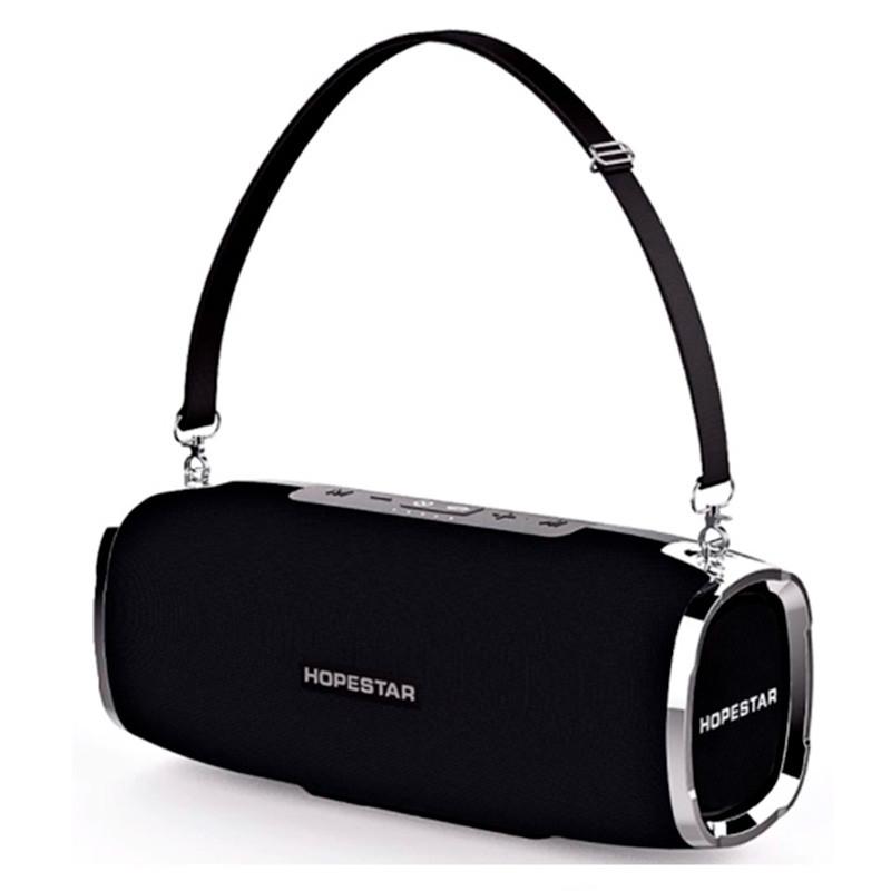 Портативна бездротова Bluetooth колонка Hopestar Original A6 SUPPER BASS Black чорна Speaker