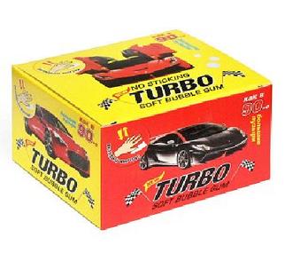Жевательная резинка turbo xtreme  блок 100 шт. / оригинальный подарок друзьям