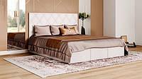 Кровать мягкая с коробом для белья и подъемным механизмом Каролина 2 с механизмом Мир Мебели, Топ Мебели