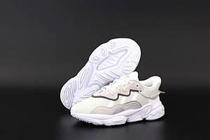 Женские кроссовки Adidas Ozweego White Pink (Повседневные кроссовки Адидас Озвиго белые с розовым)