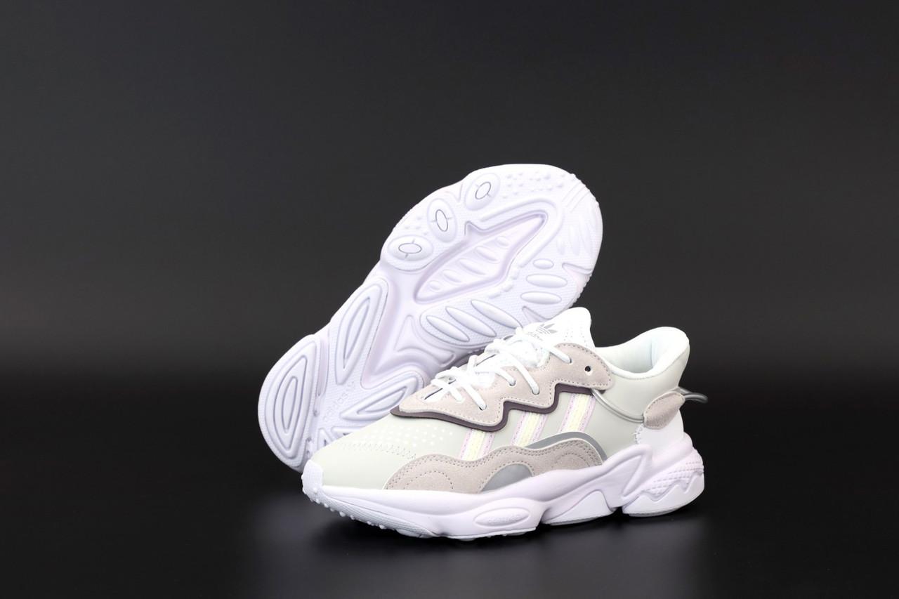 Жіночі кросівки Adidas Ozweego White Pink (Повсякденні кросівки Адідас Озвиго білі з рожевим)