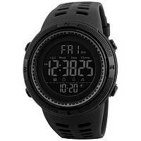 Часы наручные электронные, спортивные Skmei 1251, черные, в металлическом боксе