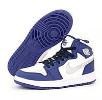 Женские кроссовки Air Jordan Retro 1 Violet White осень-весна повседневные. Живое фото. Реплика