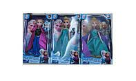 Кукла Frozen 2081 3 вида, свет, муз, с аксессуарами