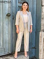 Женский брючный костюм бежевый Espiga 21-4710-1