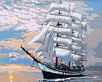 Картина для малювання за номерами (Корабель) 40*50 см. в картон. короб. пенз. фарби.