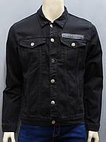 Черная джинсовая куртка под бренд PP