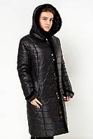 Женское пальто на холлофабере  Prunel 419 норка чер скидка