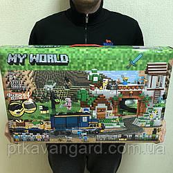 Конструктор Майнкрафт Железная дорога на батарейках Minecraft Lele My World 33173 1080 деталей