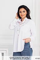 Рубашка - туника с удлиненной спинкой женская трендовая в больших размерах (р. 50-56) 1BR4