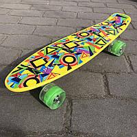 Пенни борд скейт для ребенка Best board Р 11002 колеса светятся. Пенни борды