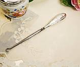Антикварный крючок для пуговиц, для кодлеров, стальной с серебряной ручкой, Англия, серебро, начало прошлого в, фото 4