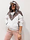 Куртка жіноча з плащової тканини з капюшоном 35-395, фото 5