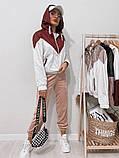 Куртка жіноча з плащової тканини з капюшоном 35-395, фото 9