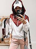 Куртка жіноча з плащової тканини з капюшоном 35-395, фото 6