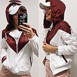 Куртка жіноча з плащової тканини з капюшоном 35-395, фото 3