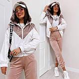 Куртка жіноча з плащової тканини з капюшоном 35-395, фото 4