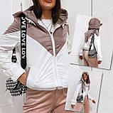 Куртка жіноча з плащової тканини з капюшоном 35-395, фото 7