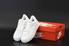 Женские кроссовки Nike Air Force. Белые. ТОП Реплика ААА класса.