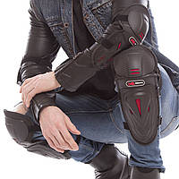 PROMOTO MS-1235 Комплект мотозащиты (колено, голень + предплечье, локоть) 4шт (PVC, PL, черный), фото 1