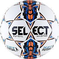 Мяч футзальный №4 SELECT FUTSAL MASTER(W) (белый-синий-оранжевый)