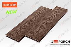 Террасная доска Porch Intense Coffee 3D 3000x150x24 двухсторонний декор, композитная, дерево-полимерная доска