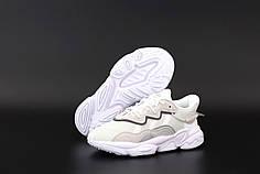 Женские кроссовки Adidas Ozweego. Белые. ТОП Реплика ААА класса.
