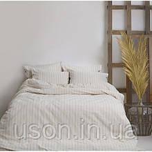 Комплект постельного белья Barine Washed cotton евро размер Sunday beige бежевый