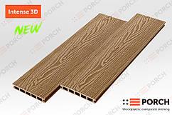 Террасная доска Porch Intense Teak 3D 3000x150x24 двухсторонний декор, дерево-полимерная доска, для террасы