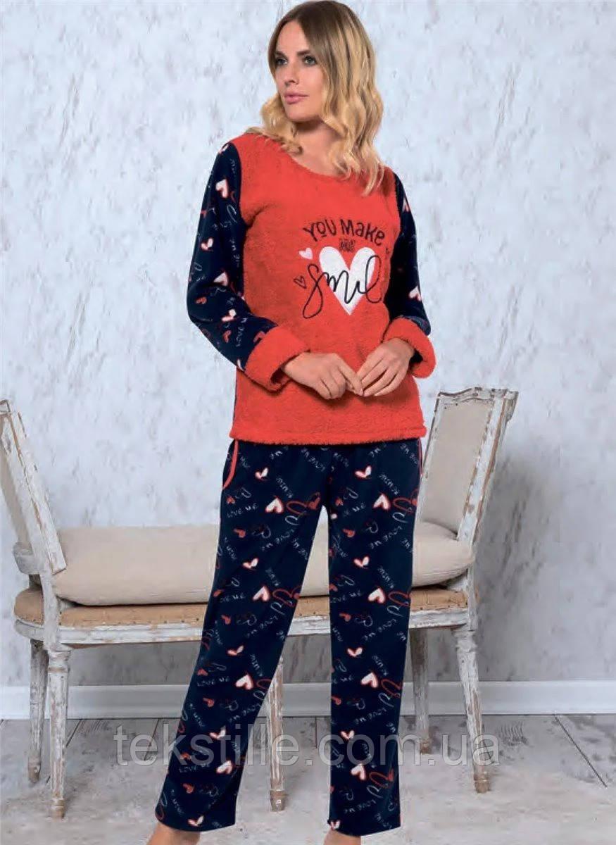 Пижама флисовая женская теплая Miss Tico XXL