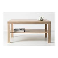 """IKEA """"ЛАКК"""" Журнальный стол, беленый ДУБ (90*45*55)"""