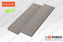 Террасная доска Porch Intense Silver 3D 3000x150x24 двухсторонний декор, дерево-полимерная доска, для террасы
