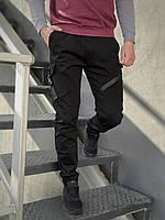 Штаны карго брюки мужские весенние осенние качественные черные Fast Traveller Intruder