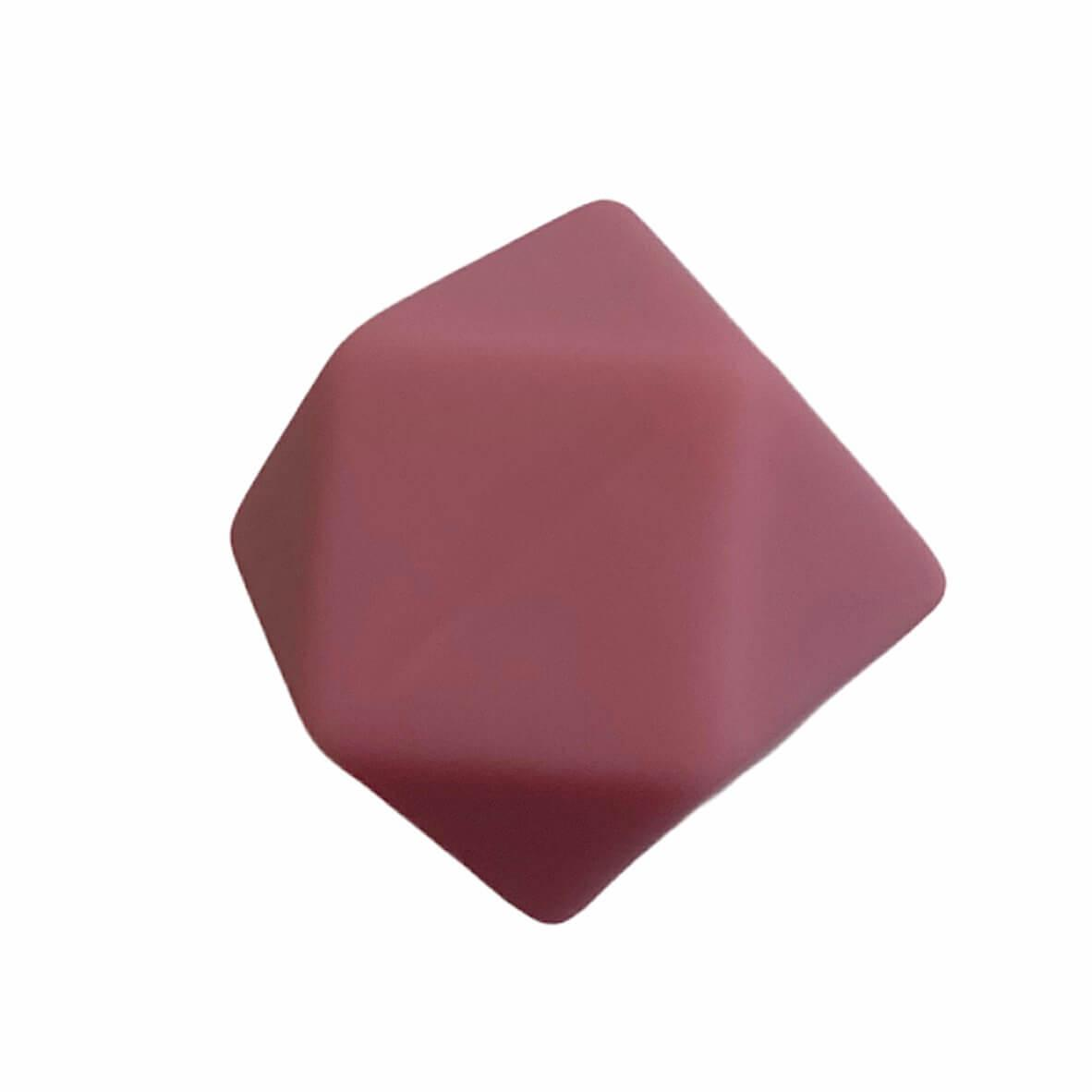 Гексагон 17мм (блаш) , силиконовые бусины