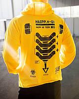Спортивный костюм мужской LC Chain весенний осенний желтый | Комплект модный Худи + Штаны ЛЮКС качества
